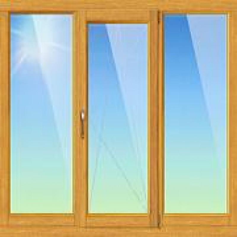 Тройное окно с одной створкой