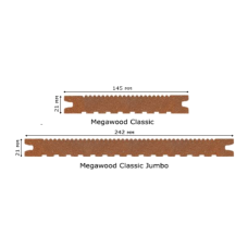 Террасная доска Megawood Classic Jumbo 21х242х4200