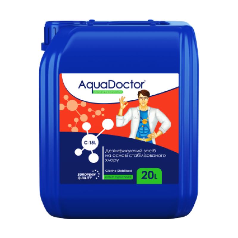Жидкий дезинфектант на основе хлора AquaDoctor C-15L 20 л