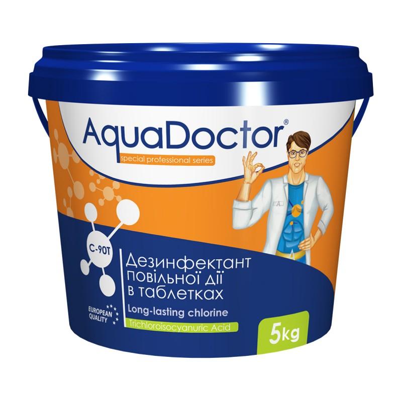 Дезинфектант на основе хлора длительного действия AquaDoctor C-90T 5 кг