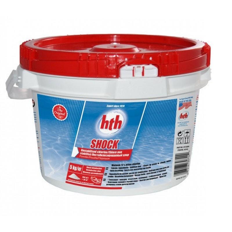 Хлор шок hth Shock powder 5 кг (порошок) нестабилизированный