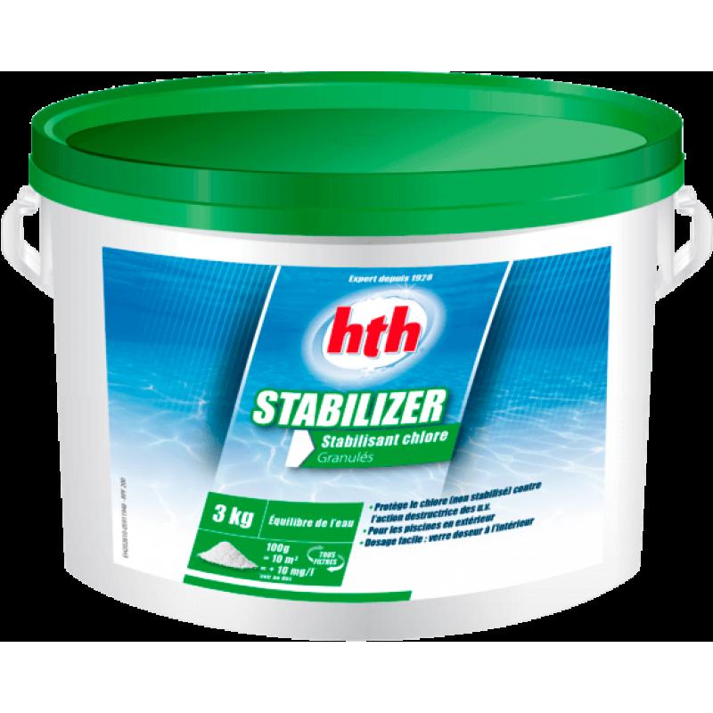 Стабилизатор хлора в гранулах hth, 3кг STABILIZER GRANULES (Франция)